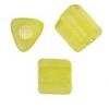 Triangular Beads 5X5mm Light Olivine Matte Solgel